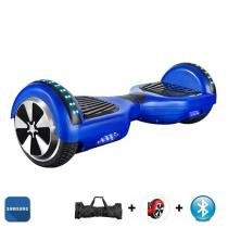 "Hoverboard 6.5"" Azul Bluetooth LED lateral e frontal  - Bateria Samsung - Smart balance wheel"