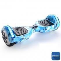 Hoverboard 6.5 Azul Militar Bluetooth LED lateral e frontal  - Bateria Samsung - Smart balance wheel