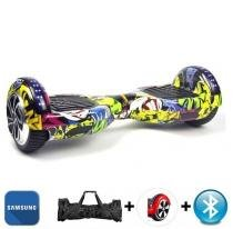 """Hoverboard 6.5"""" Clowns Bluetooth LED lateral e frontal  - Bateria Samsung - Smart balance wheel"""