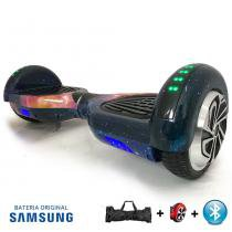 """Hoverboard 6.5"""" Galaxy Bluetooth LED lateral e frontal - Bateria Samsung - Smart balance wheel"""