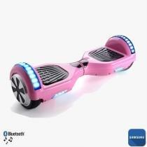 "Hoverboard 6.5"" Rosa Bluetooth LED lateral e frontal  - Bateria Samsung - Smart balance wheel"