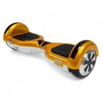 Hoverboard Balance Wheel Skate Eletrico Bivolt Dourado e Branco  Two Dogs -