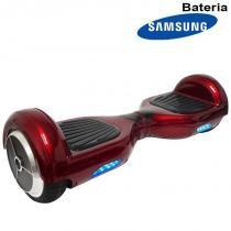 Hoverboard Skate Elétrico 2 Rodas 6,5 Polegadas Bateria Samsung Cor Vinho Original Barato - S/m