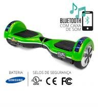 Hoverboard teen verde e preto com leds two dogs -