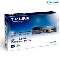 Hub switch 24 portas 10/100/1000 tl-sg1024de - tp-link - Tp-link