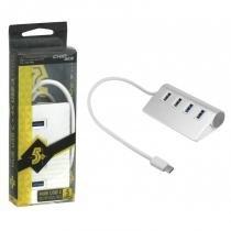 Hub USB Tipo C 3.1 4 Portas 15 cm - 018-7492 - ChipSCE - Chip sce
