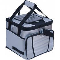 Ice cooler 24 litros cinza 100 poliéster com revestimento em pvc mor -