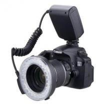 Iluminador Circular de 48 Leds para Câmeras Canon, Nikon, Panasonic e Olympus - Worldview