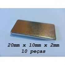 Imã De Neodímio / Super Forte / 20mm X 10mm X 2mm , 10 Peças - Fácil negócio importação