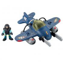 Imaginext - Avião Médio Sky Racer - Tornado Jet - Fisher Price - Fisher Price
