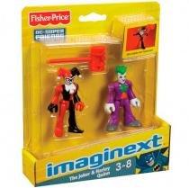 Imaginext Boneco DC Arlequina e coringa - Fisher-Price -
