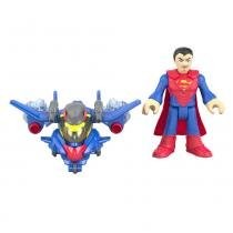 Imaginext DC Super Friends - Super-Homem Armadura de Combate - Fisher Price - Fisher Price