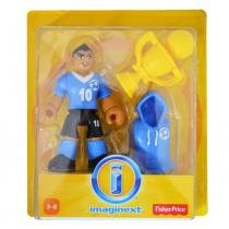 Imaginext Figura Básica com Acessório Jogador de Futebol - Mattel - Imaginext