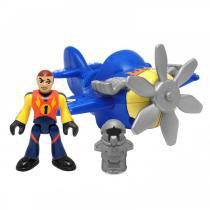 Imaginext - Mini Avião Sky Racer Azul - Fisher Price - Fisher Price