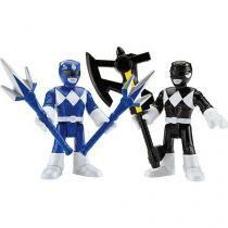 Imaginext power ranger ranger azul  ranger preto mattel chh64 - Mattel