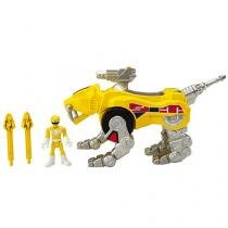 Imaginext - Power Rangers - Yellow Ranger & Sabertooth Zord - Fisher-Price
