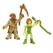 Imaginext super friends espantalho e hera venenosa mattel m5645 035863 - Mattel