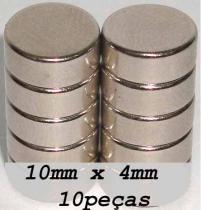 Imas De Neodímio / Super Forte 10mm X 4mm , 10 Peças - Fácil negócio importação