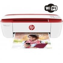 Impressora Multifuncional HP Deskjet Ink Advantage 3785 Jato de Tinta Wireless Branco e Vermelho -