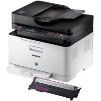 Impressora Multifuncional Samsung Xpress C480 - Laser Wi-fi + Toner Samsung Magenta CLT-M404S