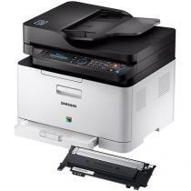 Impressora Multifuncional Samsung Xpress C480 - Laser Wi-fi + Toner Samsung Preto CLT-K404S
