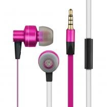 In Ear Headset Stereo Áudio Wired - PH155 - rosa - Pulse