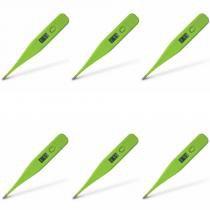 Incoterm Termo Med Termômetro Digital Verde Limão (Kit C/06) -