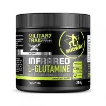 Infrared L-Glutamine Military Trail - 250g - Midway - Sem Sabor -