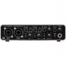 Interface de Áudio 2 IN x 4 OUT c/ USB U-PHORIA UMC204HD - Behringer - Behringer