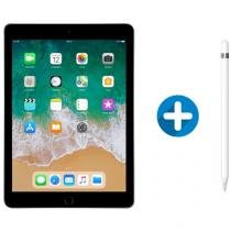 "iPad 6 Apple 32GB Cinza Espacial Tela 9.7"" Retina - Proc. Chip A10 Câm. 8MP + Apple Pencil"
