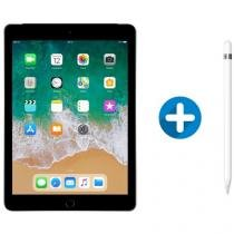 "iPad 6 Apple 4G 128GB Cinza Espacial Tela 9.7"" - Retina Proc. Chip A10 Câm. 8MP + Apple Pencil"