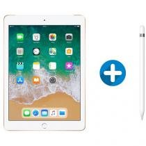 "iPad 6 Apple 4G 128GB Dourado Tela 9.7"" - Retina Proc. Chip A10 Câm. 8MP + Apple Pencil"