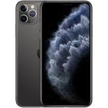 "iPhone 11 Pro Max Apple 256GB Cinza Espacial 4G - Tela 6,5"" Retina Câmera Tripla 12MP + Selfie 12MP"