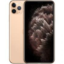 "iPhone 11 Pro Max Apple 64GB Dourado 4G Tela 6,5"" - Retina Câmera Tripla 12MP + Selfie 12MP iOS 13"