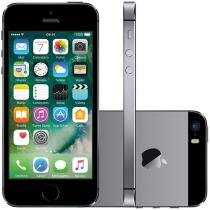 "iPhone 5s Apple 16GB Cinza Espacial Tela 4"" Retina - 4G Câmera 8MP + Frontal iOS 10 Proc. M7 Touch ID"