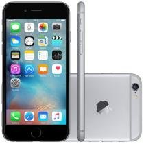 "iPhone 6 Apple 16GB 4G iOS 8 Tela 4.7"" Câm. 8MP Proc. A8 Touch ID Wi-Fi GPS NFC Cinza Espacial"