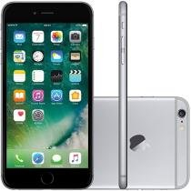 "iPhone 6 Plus Apple 64GB Cinza Espacial Tela 5,5"" - Retina 4G Câmera 8MP + Frontal iOS 10 Proc. M8"