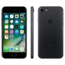 "iPhone 7 Apple 128GB Preto Matte 4G Tela 4.7"" - Retina Câm. 12MP + Selfie 7MP iOS 10"