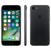 "iPhone 7 Apple 256GB Preto Matte 4G Tela 4.7"" - Retina Câm. 12MP + Selfie 7MP iOS 10"