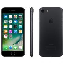 "iPhone 7 Apple 256GB Preto Matte 4G Tela 4.7"" - Retina Câm.12MP +Selfie 7MP iOS 10 Proc. Chip A10"