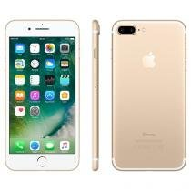 "iPhone 7 Plus Apple 256GB Dourado 4G Tela 5.5"" - Câm. 12MP + Selfie 7MP iOS 10 Proc. Chip A10"