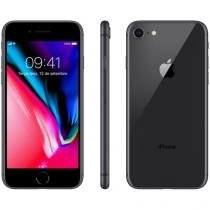 "iPhone 8 Apple 256GB Cinza Espacial 4G Tela 4,7"" - Retina Câm 12MP + Selfie 7MP iOS 11 Proc. Chip A11"