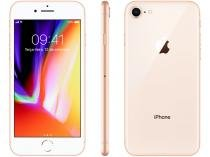 "iPhone 8 Apple 64GB Dourado 4G Tela 4,7"" Retina  - Câmera 12MP + Selfie 7MP iOS 11 Proc. Chip A11"