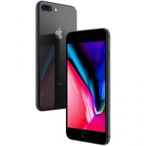 "iPhone 8 Plus Apple 128GB Cinza Espacial 4G - Tela 5,5"" Retina Câmera 12MP + Selfie 7MP"