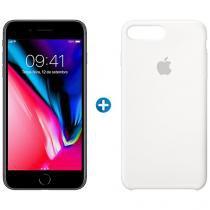 "iPhone 8 Plus Apple 64GB Cinza Espacial 4G - Tela 5,5"" + Capa Protetora de Silicone"