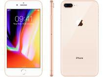 "iPhone 8 Plus Apple 64GB Dourado 4G Tela 5,5"" - Retina Câmera 12MP iOS 11 Proc. Chip A11"