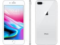 "iPhone 8 Plus Apple 64GB Prata 4G Tela 5,5""  - Retina Câm 12MP + Selfie 7MP iOS 11 Proc. Chip A11"