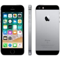 "iPhone SE Apple 16GB Cinza Espacial 4G Tela 4"" - Retina Câm. 12MP iOS 9 Proc. Chip A9 Touch ID"