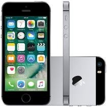 "iPhone SE Apple 64GB Cinza Espacial 4G Tela 4"" - Retina Câm. 12MP iOS 10 Proc. Chip A9 Touch ID"
