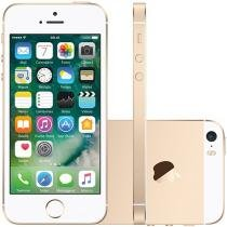 "iPhone SE Apple 64GB Dourado 4G Tela 4"" Retina - Câm. 12MP iOS 10 Proc. Chip A9 Touch ID"